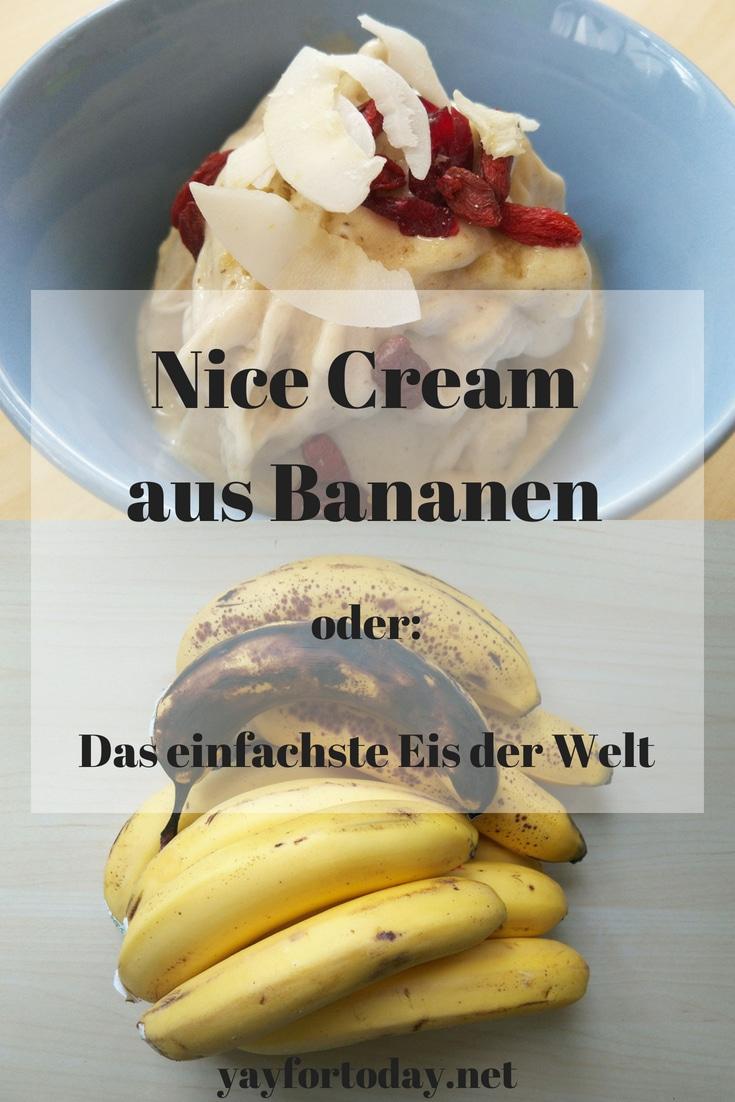 Im Sommer ernähre ich mich manchmal den ganzen Tag fast nur von Eis , bzw. in diesem Fall von selbstgemachter Nice Cream. Die geht ganz einfach und man braucht dafür nur 1-3 Zutaten. Ehrlich!